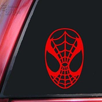 Spiderman Face Spidey Mask Car Window Ipad Tableet PC Notebook Cumputer Decal Sticker