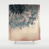 droplets of dusty blue Shower Curtain by ingz