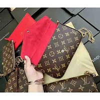 LV Louis Vuitton Women's Three-piece Leather Shopping Bag Handbag F