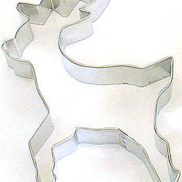 Leaping flying Reindeer 4 inch Cookie Cutter Christmas