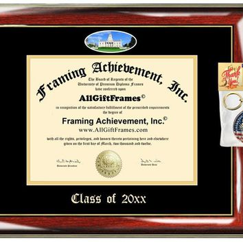 AllGiftFrames Custom Diploma Frame Embossed College Best University of Iowa Graduation Degree Iowa Frame Double Mat Campus Fisheye Picture Frame Cheap Graduate Gift