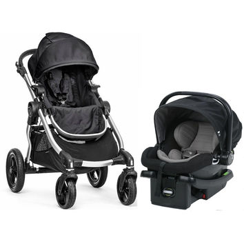 Baby Jogger City Select Travel System Stroller w City Go Infant Car Seat Onyx