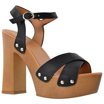 Studded Platform High Heel Sandal