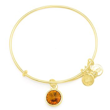November Birth Month Charm Bangle