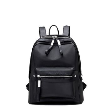 Pocket Front Double Zipper Design Backpack