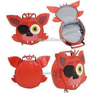 Licensed cool Five Nights at Freddys FOXY Red Fox Lunchbox Insulated Lunch Cooler Tote Bag NEW
