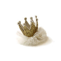 Hello Alyss Princess Crown Hair clip - Gold - Hello Alyss Exclusive..