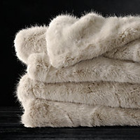 Ultra Faux Fur Blanket - Dune