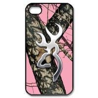 Browning Cutter Logo Pink Camo iPhone 4 4S On Your Style Christmas Gift Cover Case