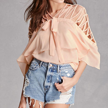 Caged Open-Shoulder Top