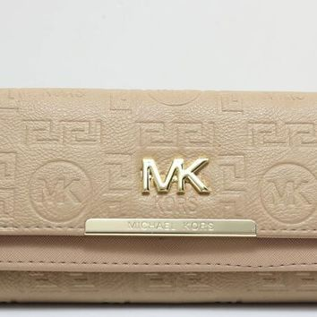 MK 2017 Pure elegant leather printing wallet purse bag [52780269580]