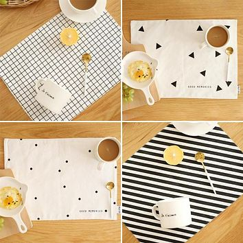 Home Table Decoration Accessories Heat-insulated Tableware Cotton Chic Placemat Kitchen Dinning Bowl Pad Mat Nordic Style Gift45