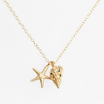 Women's ki-ele Sea Star & Shell Pendant Necklace