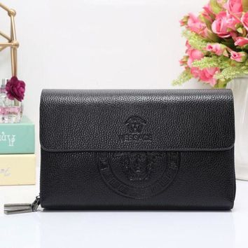ICIKJG8 Versace Women Fashion Leather Wallet Purse