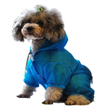 Dog  Rainwear Water, UV Resistant Hooded Raincoat