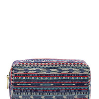 Southwestern-Patterned Cosmetic Case