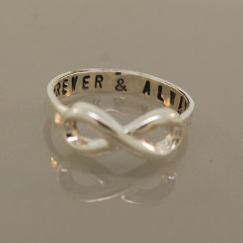To Infinity, Promotion Custom Handstamped Ring