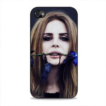 Lana Del Rey Rose On Her Lips Supreme iPhone 4/4s Case