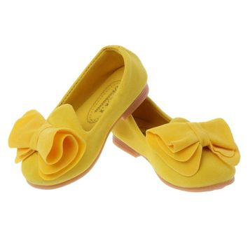 Children's Flat Shoes Bowknot Toddler Kids Girl Casual Flat Shoes Princess Fasion Slip-on Shoes