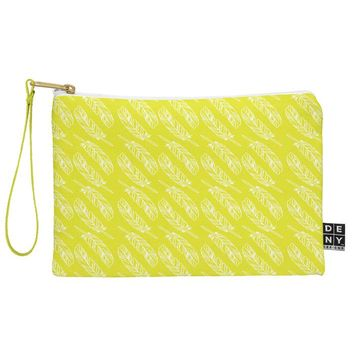 Allyson Johnson Neon Feathers Pouch