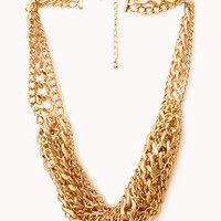 Street-Chic Twisted Chain Necklace