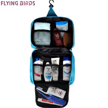 FLYING BIRDS women Cosmetic Bags Makeup Bag Cosmetic case travel style wash bags Large Women Packages Waterproof bag LM3128fb