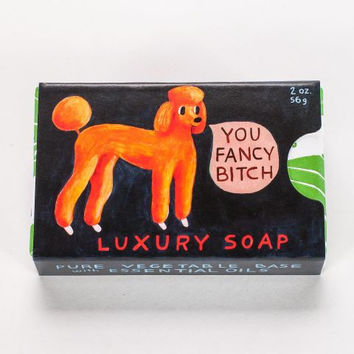 You Fancy Bitch Soap in Jasmine and Lemon Peel (Poodle)