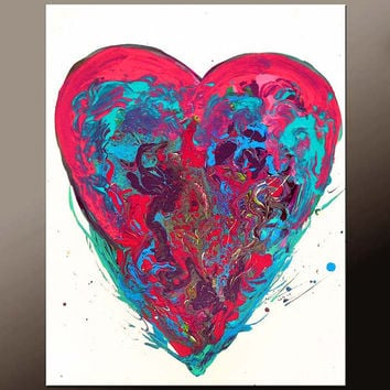 Abstract Canvas Art Painting Canvas 22x28 Original Modern Contemporary Paintings by Destiny Womack - dWo - Heart of a Dreamer ON SALE