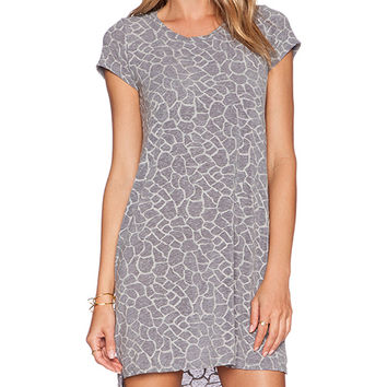 Michael Lauren Lucky Side Slit Dress in Gray