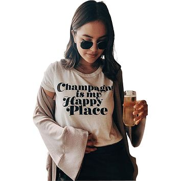 Champagne Happy Place Tee