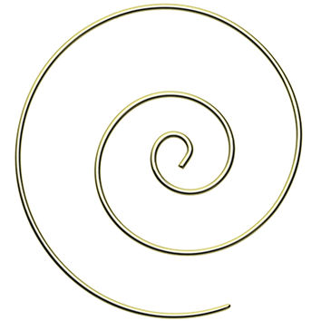 Large Golden Colored Spiral Coiled Earring