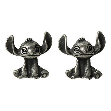 Disney Lilo and Stitch Burnished Silver Earrings