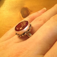 Sweet Ruby 925 Sterling Silver Ring Size 7