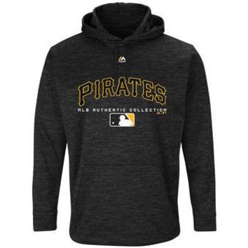 Pittsburgh Pirates Majestic MLB Black Ultra Streak Pullover Hoodie