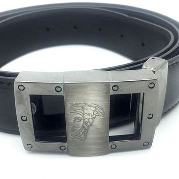 ESBON Versace Collection Black Patent Leather Belt