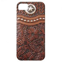 Vintage Western Brown and Silver Photo Print iPhone 5 Case from Zazzle.com