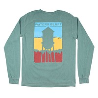 Shade the Town Long Sleeve Tee in Olive by Waters Bluff