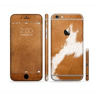 The Real Brown Cow Coat Texture Sectioned Skin Series for the Apple iPhone 6s Plus