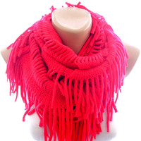 red infinity scarf, scarves for women, scarves, red scarf, winter scarves