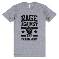 Rage against the Patriarchy-Unisex Athletic Grey T-Shirt