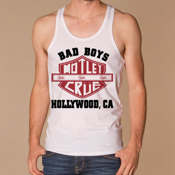 motley crue Bad Boys Hollywood  for men tank top --- size S,M,L,XL,2XL,3XL print tanktop