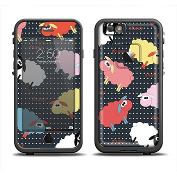 The Colorful Sheep Polka Dot Pattern Apple iPhone 6/6s Plus LifeProof Fre Case Skin Set