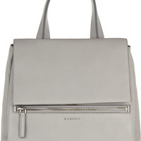 Givenchy - Medium Pandora Pure bag in light-gray textured-leather