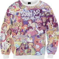 SCOOBY DOO Retro Collage Sweater created by retrofreak | Print All Over Me