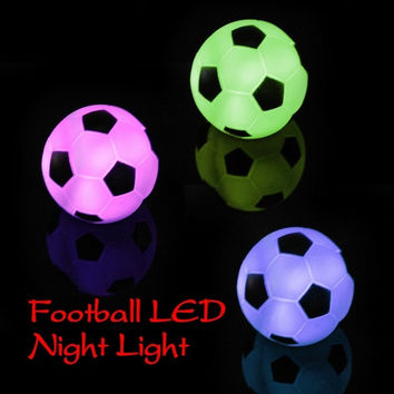 Cool Gifts Color Changing LED Xmas Mood Party Decoration Football Lamp Night Lamp Light
