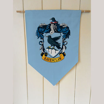 Harry Potter ravenclaw House - Wall Hanging Banner Flag Fabric pennant Cotton home decro decro