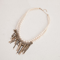 Chain Pearl Necklace | perfectsunday.co