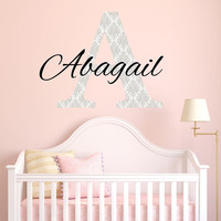 Girl Name Wall Decal- by Decor Designs Decals, Girls Name, Wall Decal, Wall Decor, Girls Name Decal, Name Wall Decal, Name Decal, Nursery Name Decal, Personalized B1