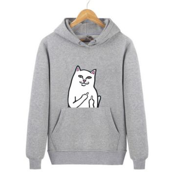 Trendy Ripndip Cat Printed Supreme Unisex Sweater Pullovers