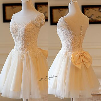 Vintage Champagne Wedding Dresses